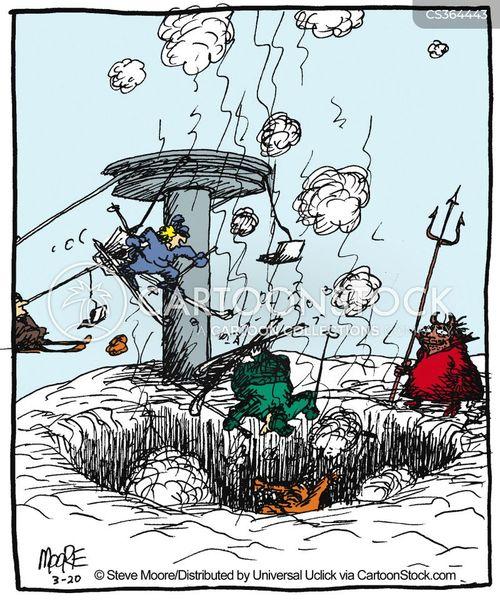chairlift cartoon