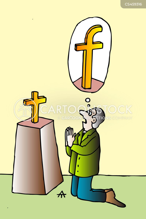 worshiping cartoon