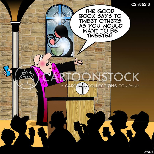 sunday worships cartoon