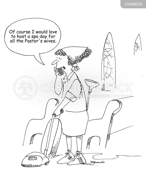 spa day cartoon