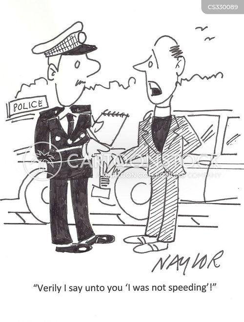 speeding offence cartoon