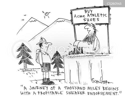 endorse cartoon
