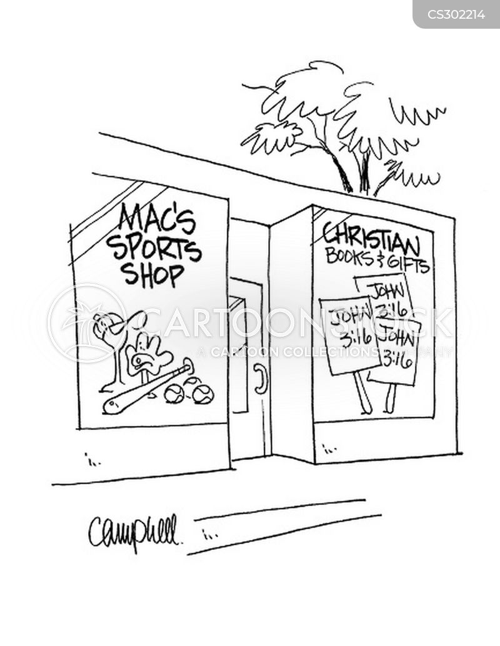 sports shops cartoon