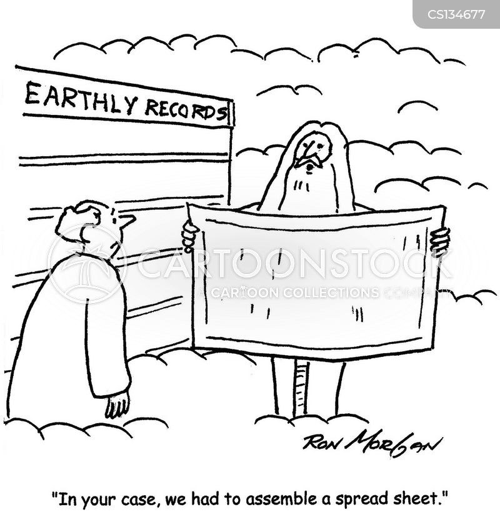 spread-sheets cartoon