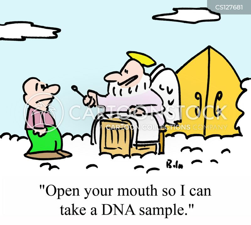dna samples cartoon