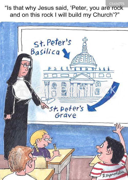 roman catholicism cartoon
