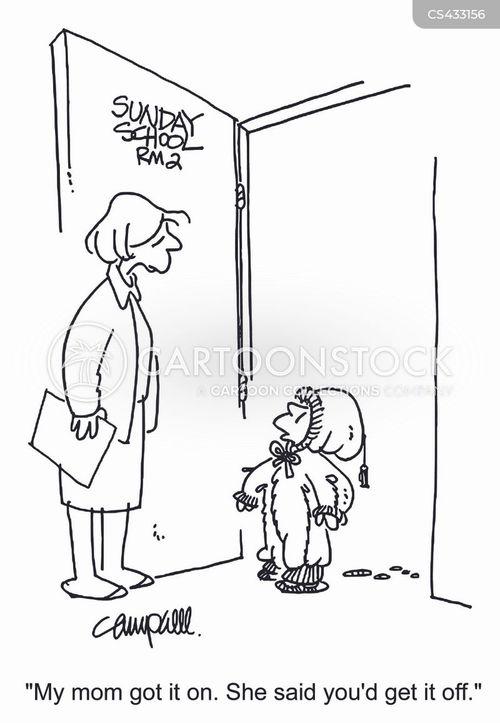 sunday school teacher cartoon