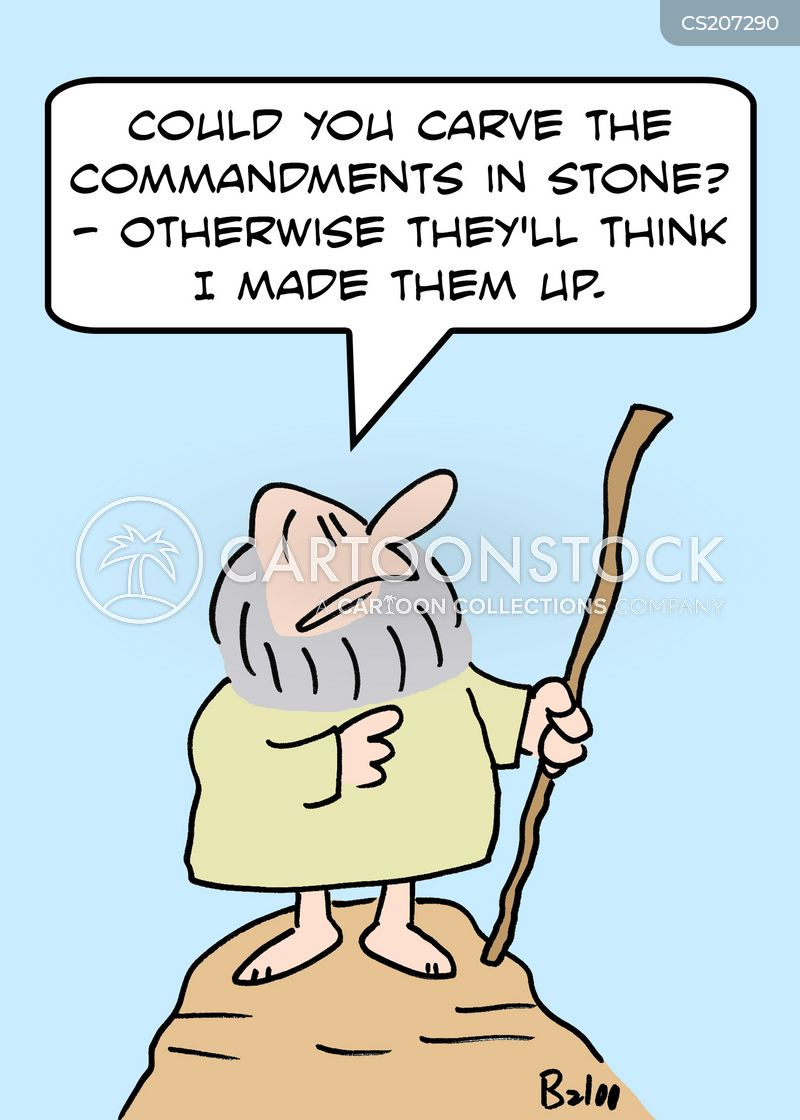 stone tablets cartoon