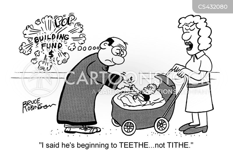 Church Tithe Cartoons And Comics Funny Pictures From Cartoonstock