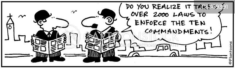 enforcing the law cartoon