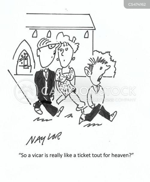 ticket tout cartoon