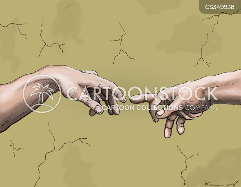 touches cartoon