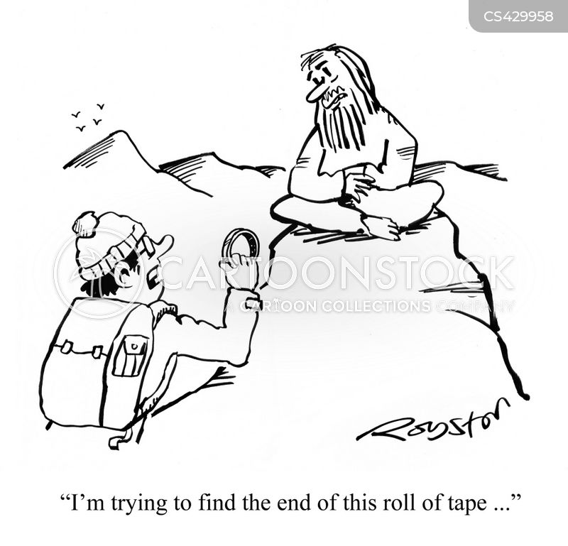 sticky tapes cartoon
