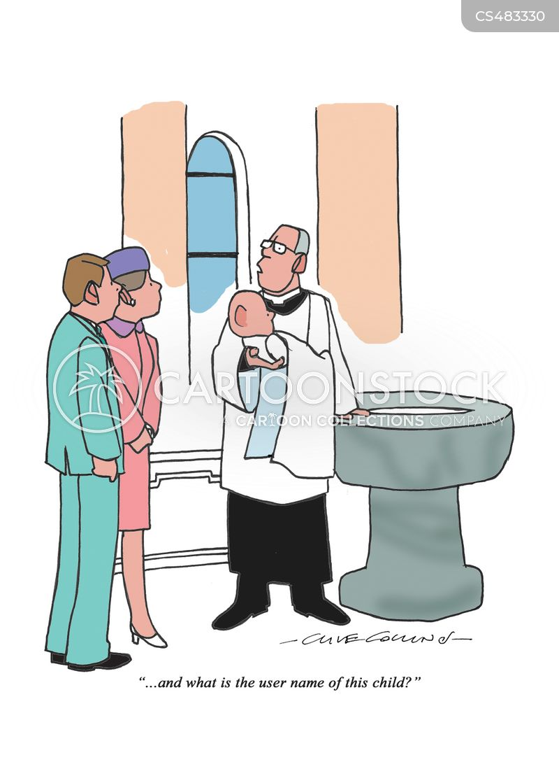 christening services cartoon
