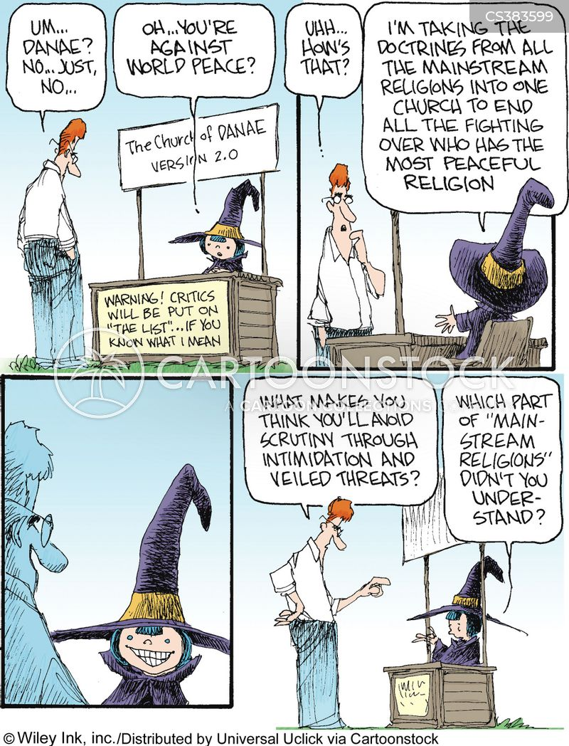 mainstream religions cartoon