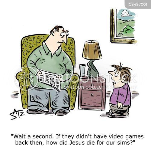 computer gamer cartoon