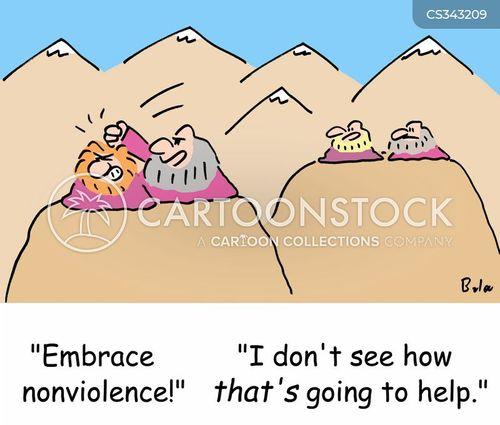 non-violence cartoon