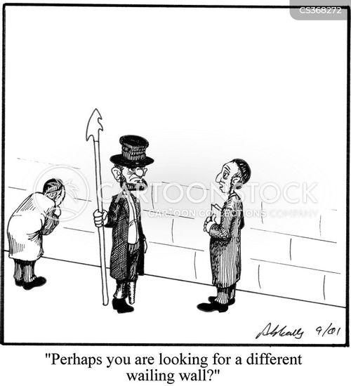 wailing wall cartoon