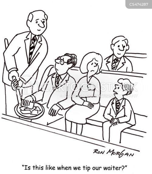 church collection cartoon