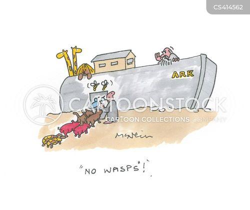 wasp bite cartoon