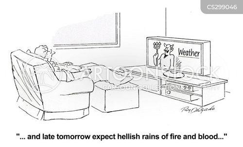 weather reporters cartoon