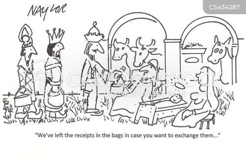 gift exchanges cartoon