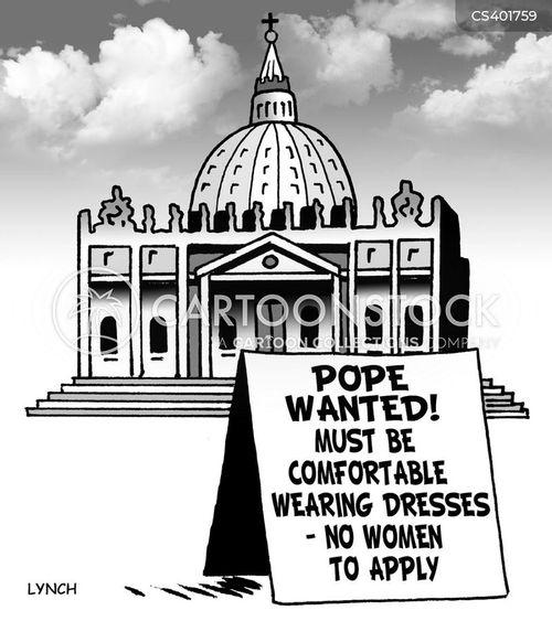 female priest cartoon