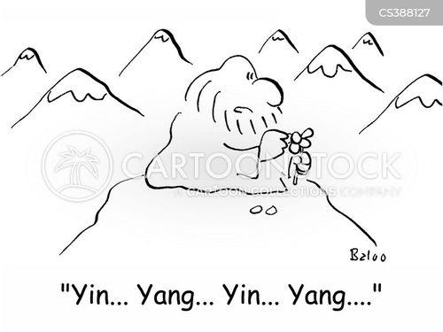 ying and yang cartoon