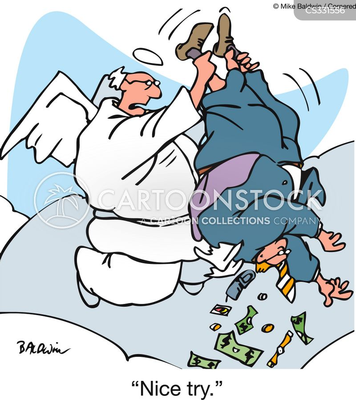material wealth cartoon