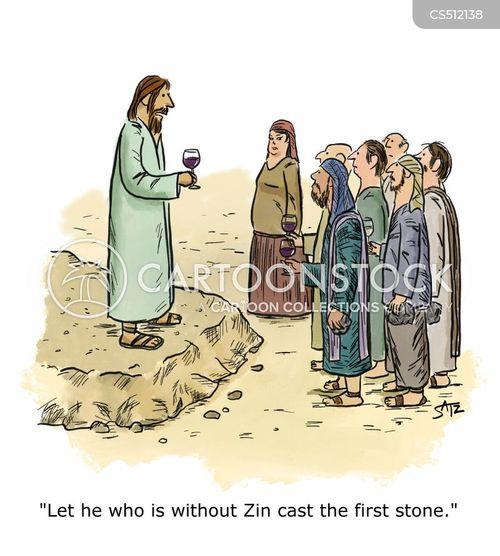 stoning cartoon