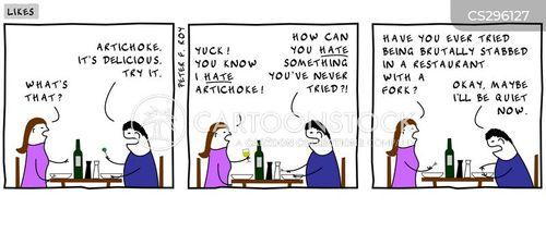 artichoke cartoon
