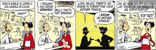 monolingual cartoon