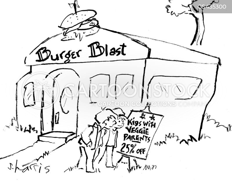 burger restaurant cartoon