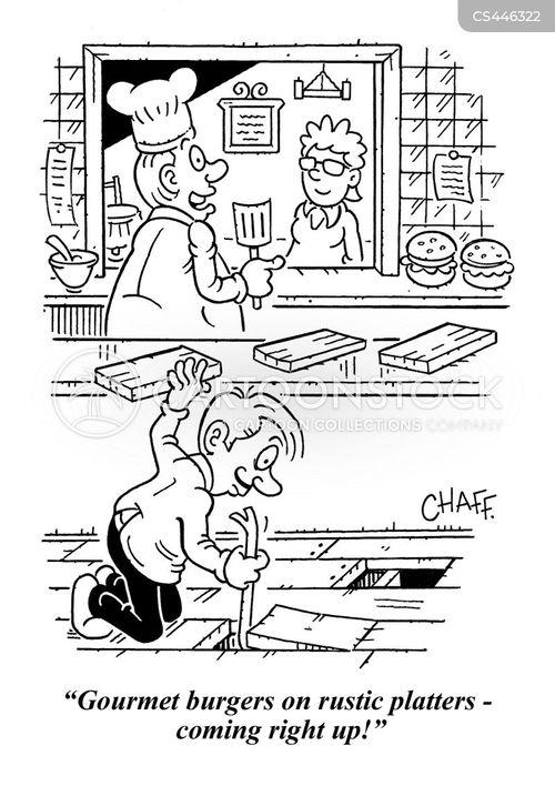 artisan restaurants cartoon