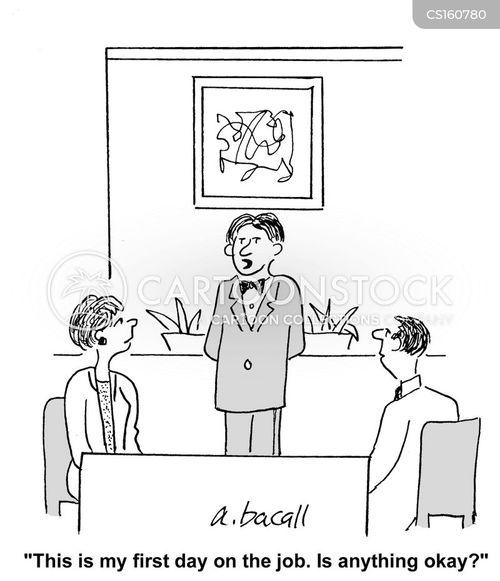 catering staff cartoon