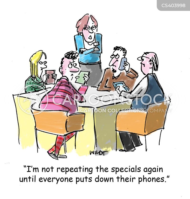 mobile etiquette cartoon