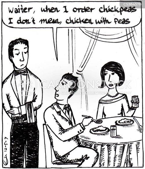 waitered cartoon