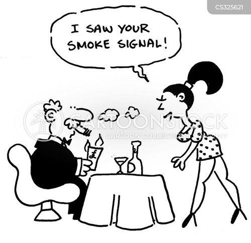 smoking sections cartoon