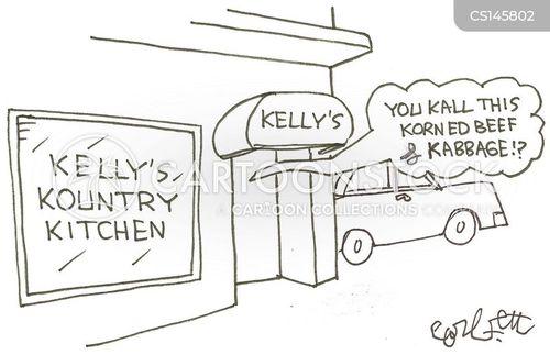 corned beef cartoon