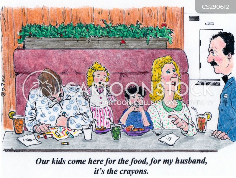 family restaurant cartoon