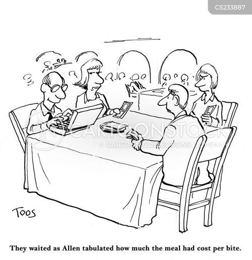 splitting the bill cartoon