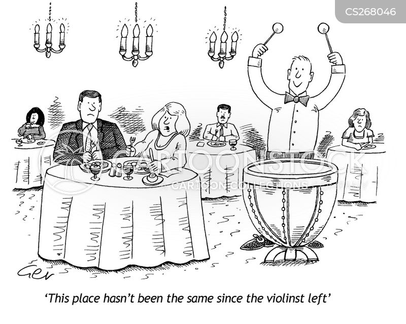 violin players cartoon