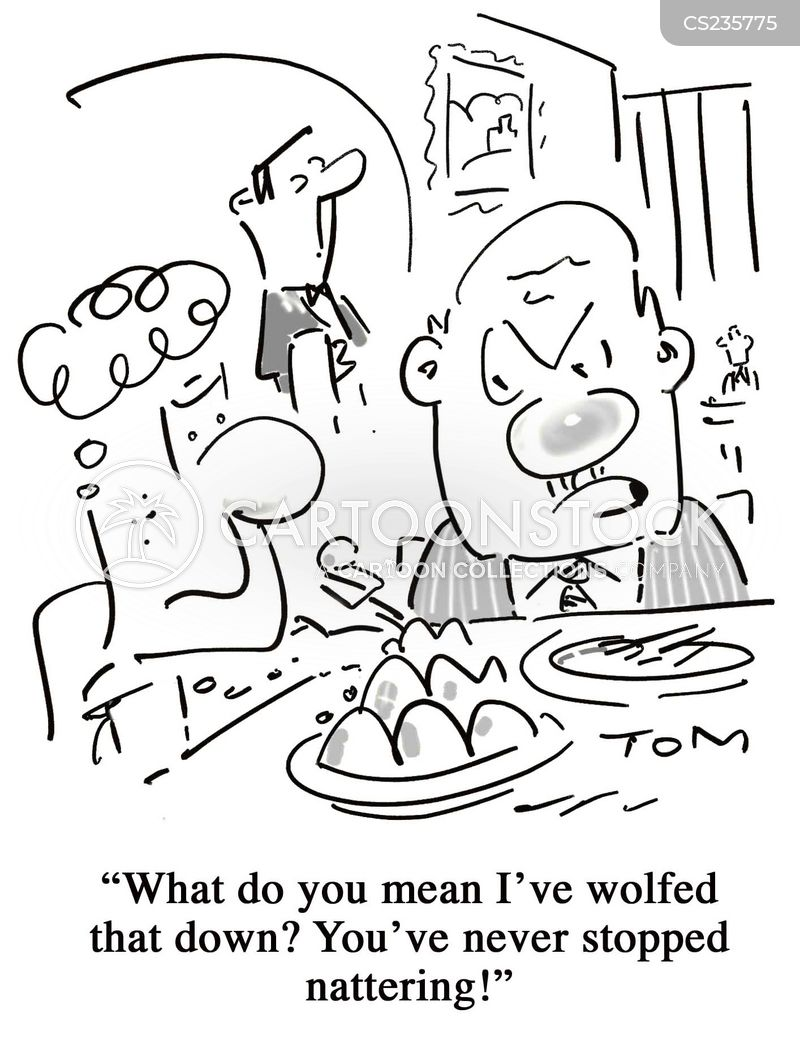 table for two cartoon