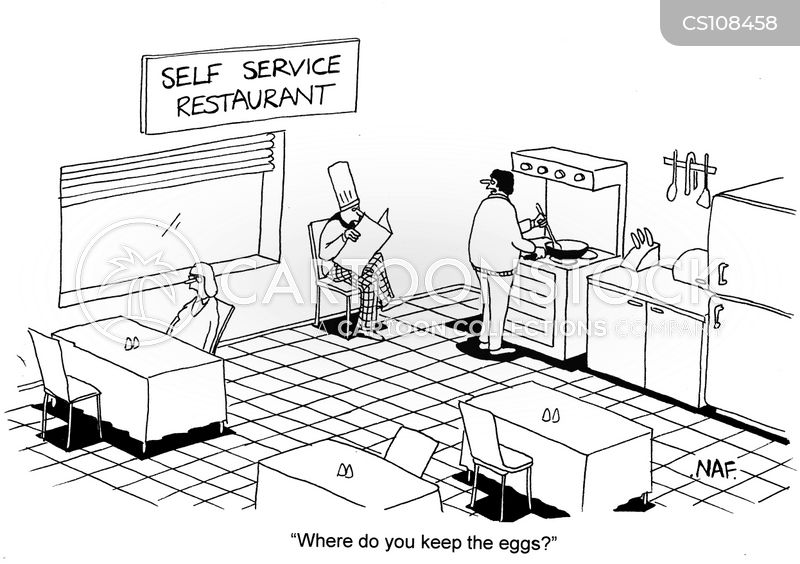 Self Service cartoons, Self Service cartoon, funny, Self Service picture, Self Service pictures, Self Service image, Self Service images, Self Service illustration, Self Service illustrations