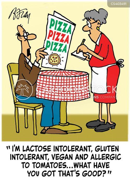 gluten intolerant cartoon