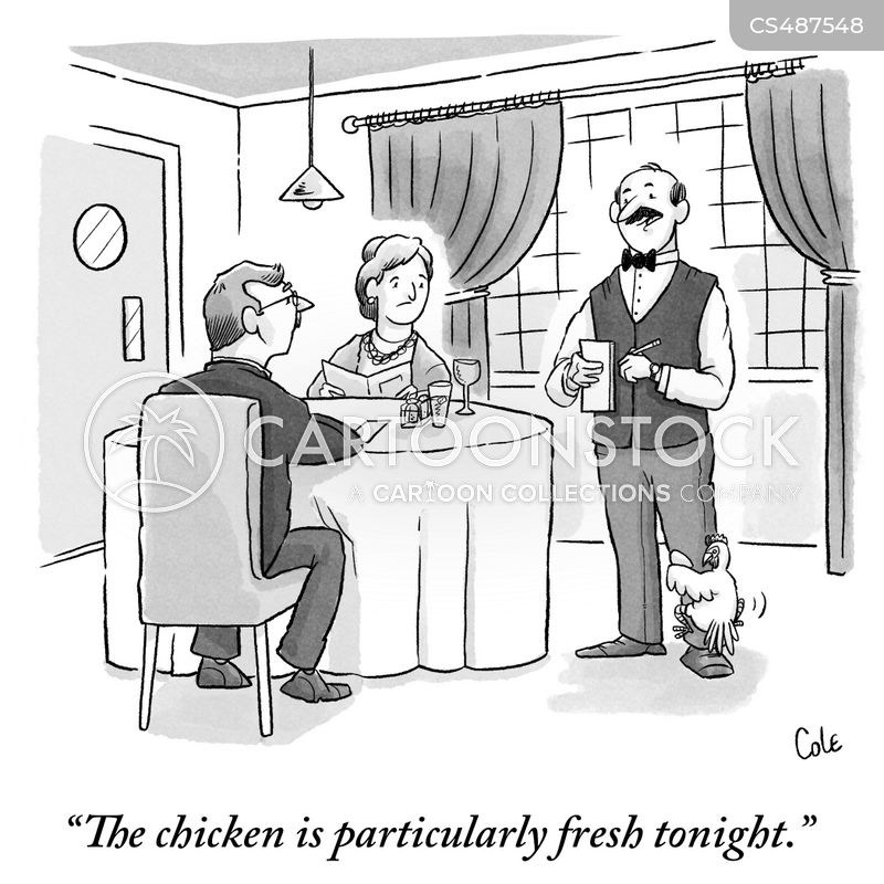 fresh chicken cartoon
