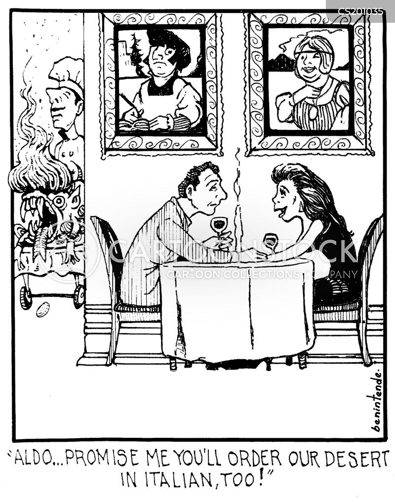 italian cuisine cartoon