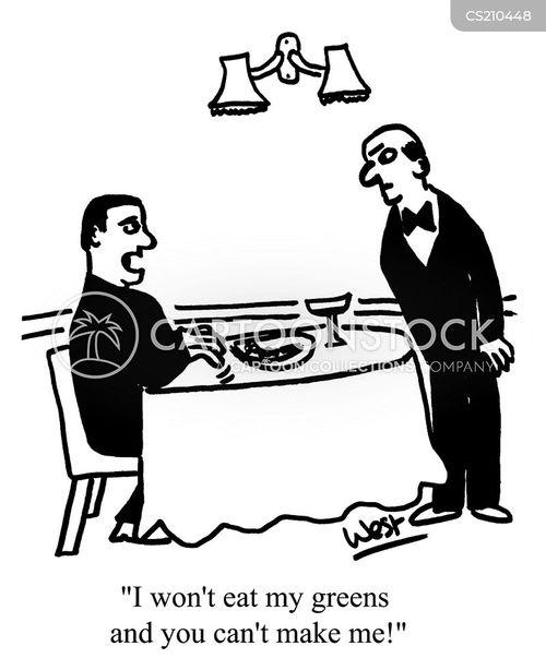green vegetables cartoon