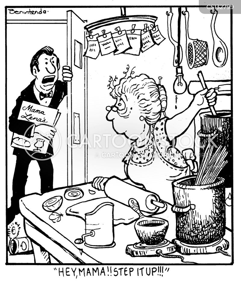 Restaurant Kitchen Illustration restaurant kitchen cartoons and comics - funny pictures from