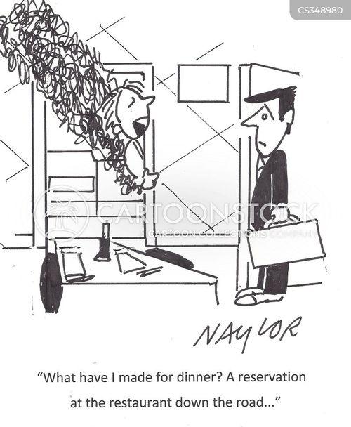 table booking cartoon